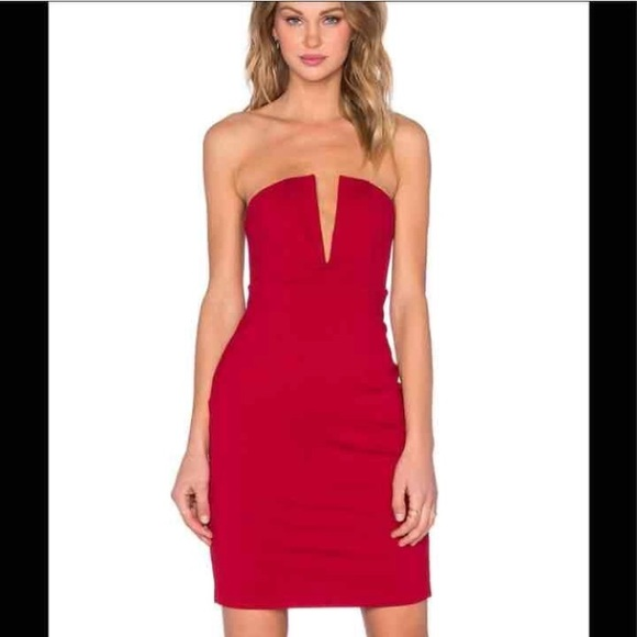 NBD red strapless dress brand new with tags 7c69bd48f